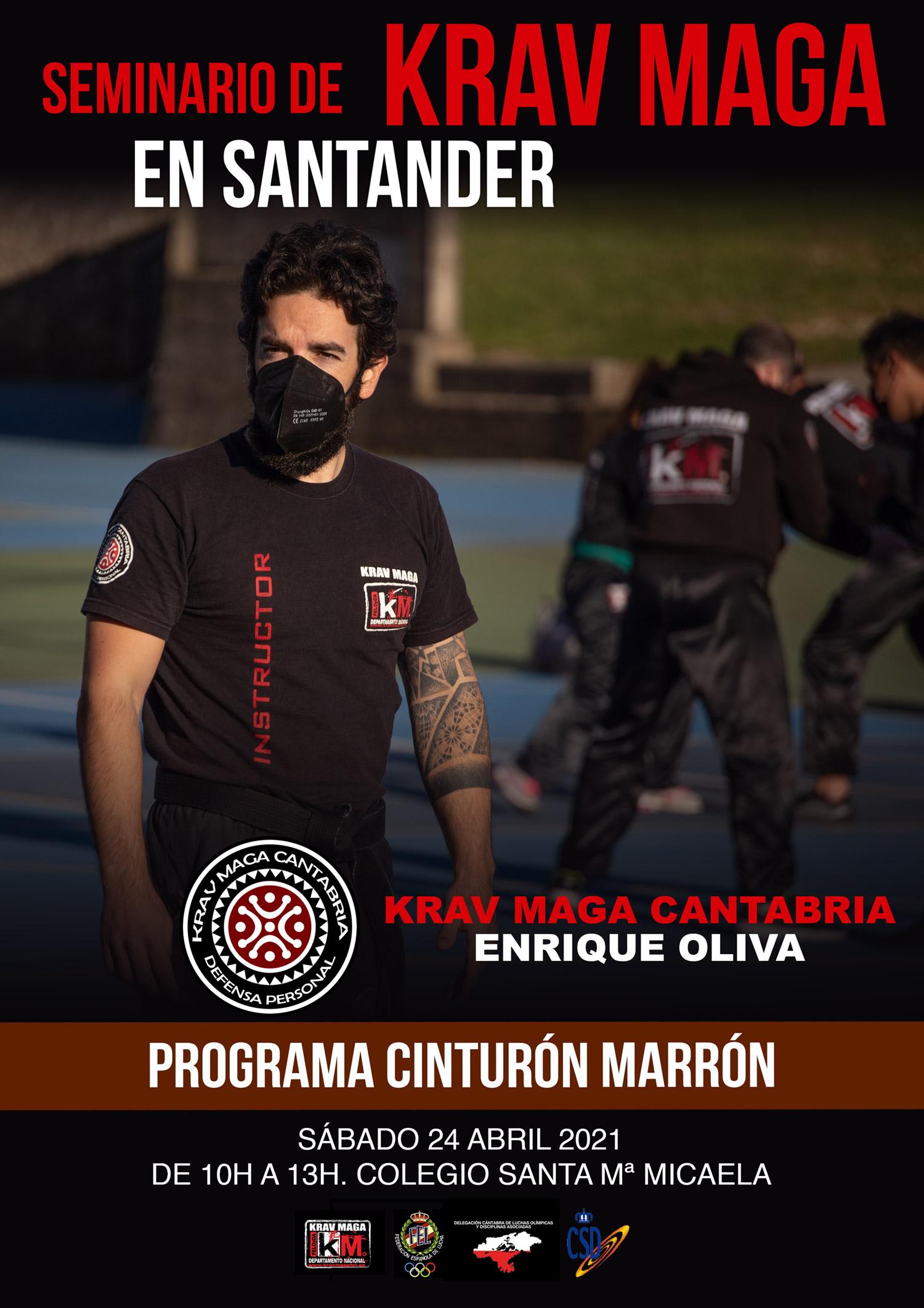 seminario krav maga santander cantabria enrique oliva cinturon marron
